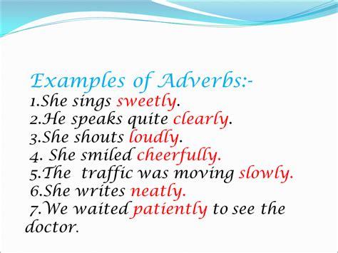 adverbs  english language