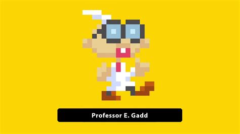 super mario maker character update professor  gadd