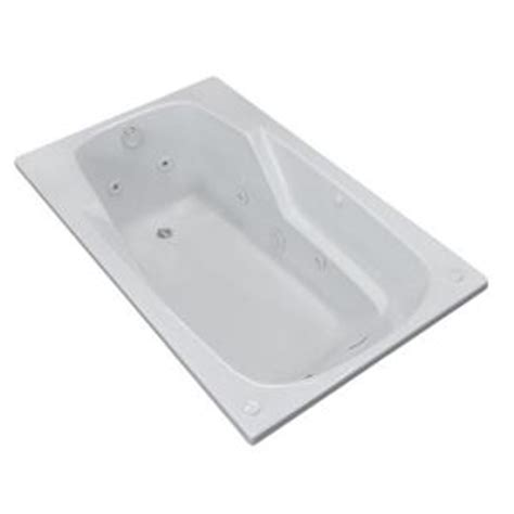 universal tubs coral 5 ft whirlpool tub in white