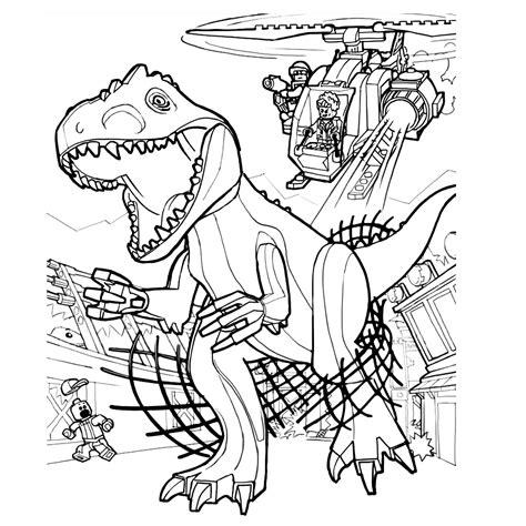 Kleurplaat Indominus Rex by Leuk Voor De Indominus Rex Is Ontsnapt