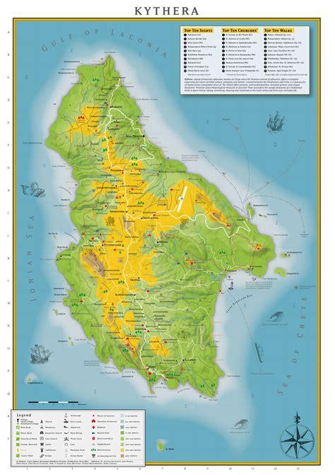 large kythira island maps     print