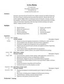 good resume for accounts executive job description personal assistant cv exle for admin livecareer