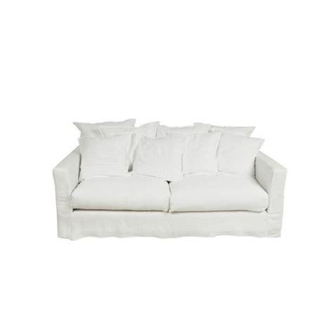 mousse assise canapé canapé 3 places et housse blanc voilé canapé structure en