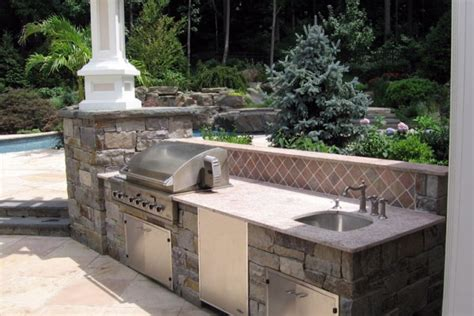 sink for outdoor kitchen outdoor kitchen bbq design installation bergen county nj 5279