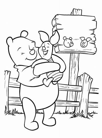 Mewarnai Gambar Kartun Pooh Winnie Animasi Untuk