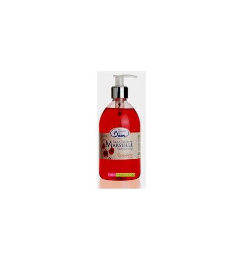 Savon Liquide De Marseille Le Comptoir Du Bain savon liquide de marseille coquelicot 500 ml le comptoir