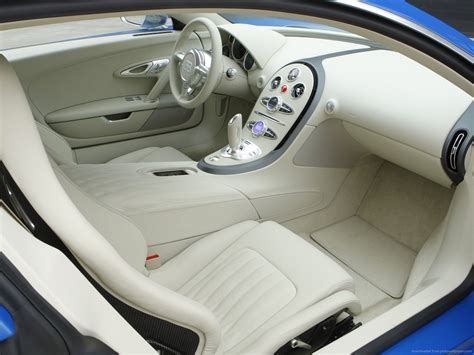 The leather interior is done up in the same shade as the exterior. Bugatti Veyron white interior wallpaper   Bugatti veyron ...