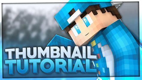 minecraft thumbnail erstellen tutorial template