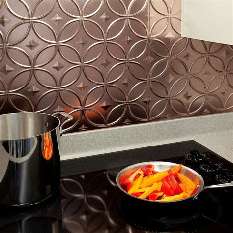 fasade kitchen backsplash panels fasade 24 in x 18 in rings pvc decorative backsplash 7172