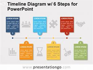 Timeline with 6 Steps for PowerPoint - PresentationGO.com