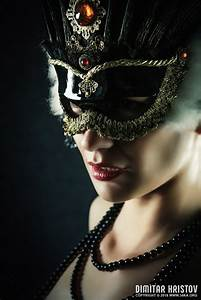 Carnival Mask  U2013 Closeup Girl Portrait