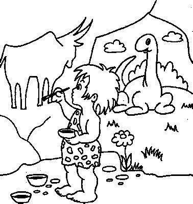 transmissionpress cave painter kids coloring pages