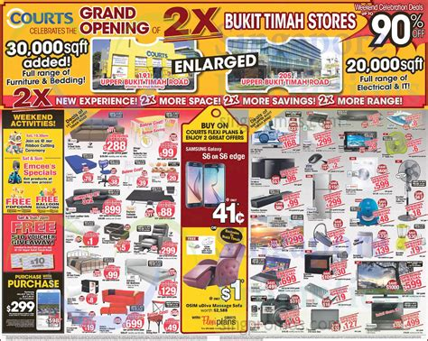 courts 3 days weekend sale 4 6 apr 2015