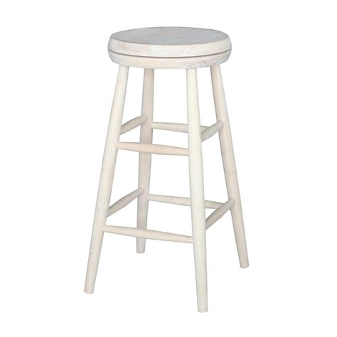 unfinished wood stool international concepts scooped seat 30 in unfinished wood 3042