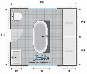 Plan Salle De Bain 7m2 : exemple plan de salle de bain de 12m2 plans pour grandes salles de bain de 7m2 13m2 en 2019 ~ Dode.kayakingforconservation.com Idées de Décoration