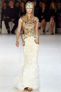 opulent gold and ivory wedding dress by sarah burton for With sarah burton wedding dresses