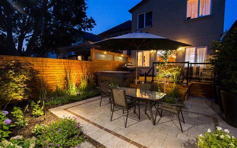 small backyard landscape earthscape residential