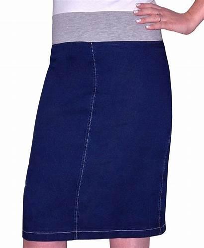 Denim Skirt Stretch Casual Kosher Length Shop2online