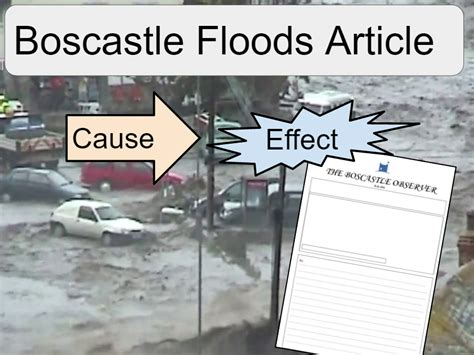 boscastle flood   effects article ks teaching resources