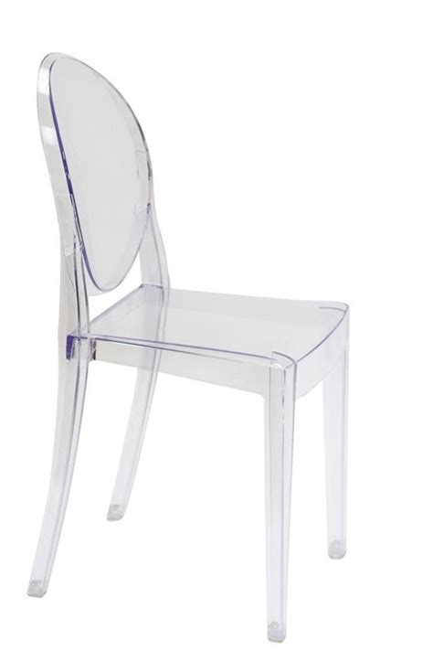 set of 4 style ghost dining chair clear color