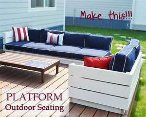 ana white platform outdoor sectional diy projects With outdoor sectional sofa plans ana white