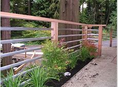 Railing option to consider Galvanized pipe for clean look
