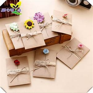 DIY retro handmade creative Greeting Cards Envelopes dry ...