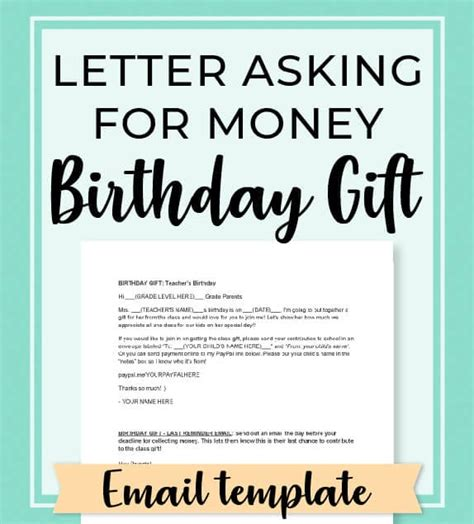 If your teacher accepted your request for a letter of recommendation for college, that's great news! Ways To Ask For Money As A Birthday Gift   Panglimaword.co