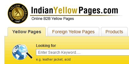 india yellow pages indian business directory krisaru com on web technology and