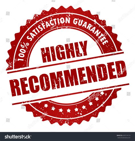 Highly Recommended Stamp Sticker Label Badge Stock Vector 287214110 Shutterstock
