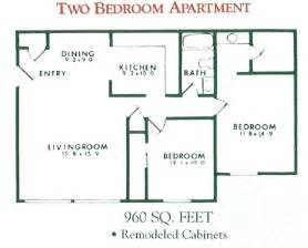 Two Bedroom Apartment Floor Plan Photo by 2 Bedroom Apartment Floor Plan For Rent At Willow Pond