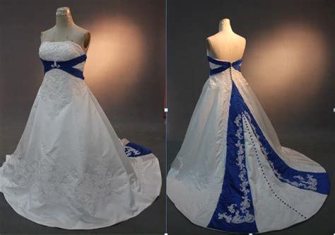 China Rw09 Royal Blue And White Wedding Dresses