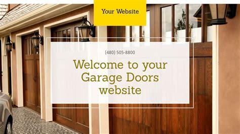 Garage Doors Website Templates Godaddy
