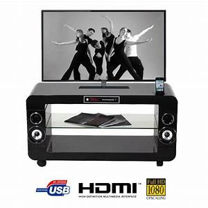 Meuble Tv Home Cinema Intégré : soundvision sv200b meuble home cin ma 2 1 noir meuble ~ Melissatoandfro.com Idées de Décoration