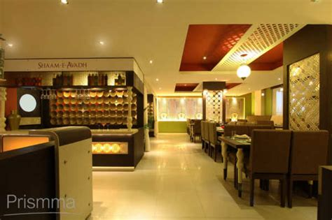 restaurant design shaam  avadh baroda pomegranate design