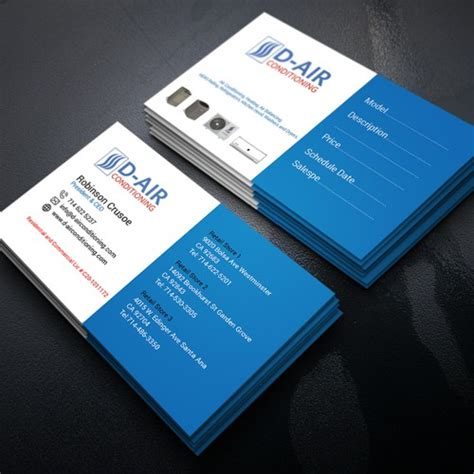 design  business card   air conditioning company