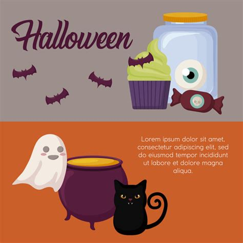 Happy halloween cute cartoon character banner vector collection, its filesize is 2.27mb, you can frankenstein vector eps, svg, ai file. Halloween celebration banner Vector | Free Download