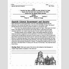 Age Of Exploration Spanish And Dutch Empires Worksheet By Linni0011  Teaching Resources