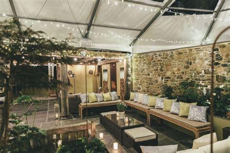 terrace lit    evening inspiration ideas