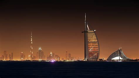 dubai night cityscape wallpapers