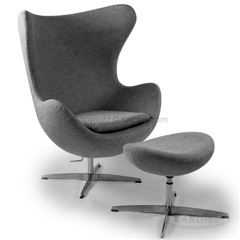 Egg Chair Ottoman by Egg Chair Ottoman Dacite Retrospeck Twill Fabric