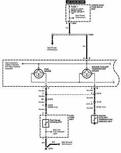 Acura Cl  1998 - 1999  - Wiring Diagrams - Instrumentation