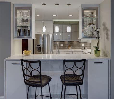 Kitchen Layout Ideas Galley - contemporary chic condo kitchen drury design