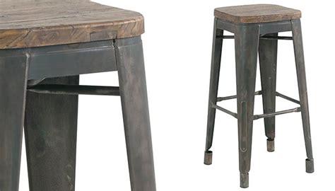 le bureau rouen tabouret de bar en vieux pin recyclé