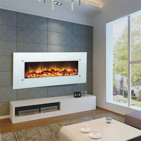 wall mount electric fireplace no heat touchstone 80002 ivory contemporary electric wall mounted