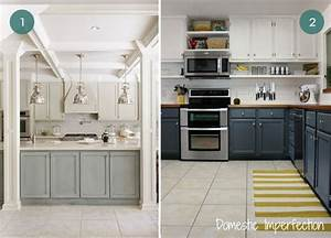 eye candy beautiful two tone kitchen cabinets curbly With kitchen colors with white cabinets with oil change reminder stickers