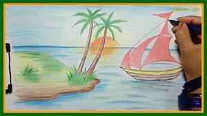 How To Draw With Colored Pencils  Ud83c Udf3fdrawing A Landscape