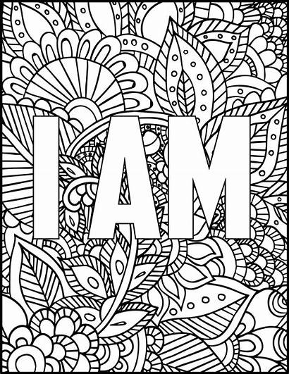 Coloring Printable Colouring Adult Adults Sheets Quote