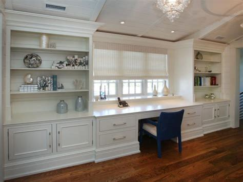 traditional home office  wall length desk hgtv