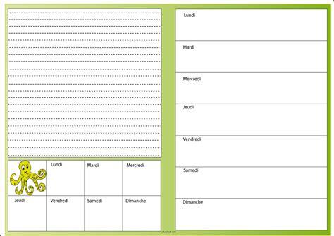carnet de cuisine vierge menu de la semaine vierge planning hebdo de repas